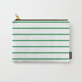 Kelly Green Breton Stripes Carry-All Pouch