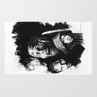 the walking dead Area & Throw Rugs featuring The Walking Dead by Drumond Art