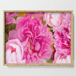Large Pink Peony Flowers #decor #society6 #buyart Serving Tray