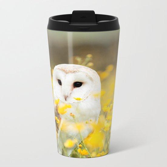 Australian Barn Owl (Tyto Alba) Metal Travel Mug