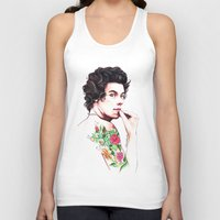 harry styles Tank Tops featuring Harry Styles by dariemkova