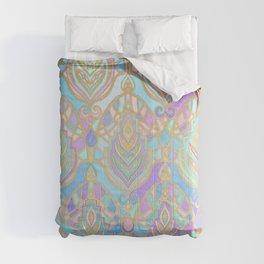 Jade & Blue Enamel Art Deco Pattern Comforters