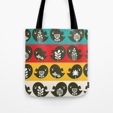 Birds in line. Tote Bag