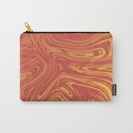 Red marble pattern with golden tint Carry-All Pouch