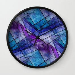 Night Shards Wall Clock