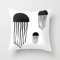 medusa Throw Pillows featuring Medusa by Kristijan D.