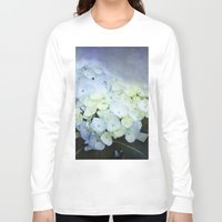 hydrangea Long Sleeve T-shirts featuring Hydrangea Blossoms  by Pure Nature Photos