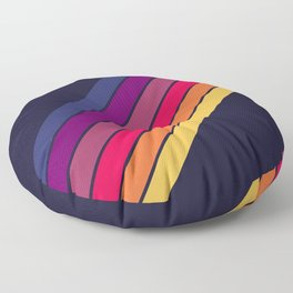Dajuna - 70s Vintage Style Retro Stripes Floor Pillow