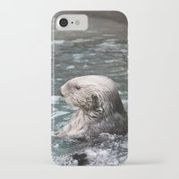 otter iPhone & iPod Cases featuring Otter by RMK Creative