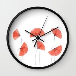 Flanders poppy, corn poppy, flower Wall Clock