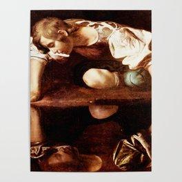 Michelangelo Merisi da Caravaggio, Narcissus at the Source, oil on canvas, 1597-99 Poster