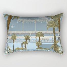 Dodger Stadium Gates View Rectangular Pillow