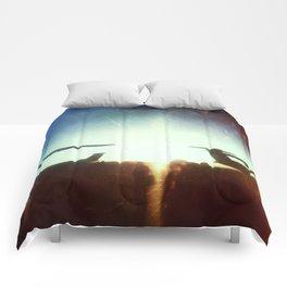 Sea-Tac At Sunset Comforters