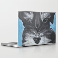 schnauzer Laptop & iPad Skins featuring Schnauzer by Christina Zoernig