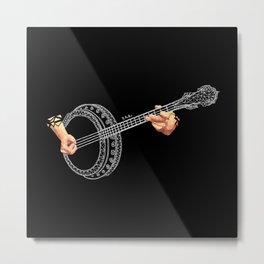 Banjo White Metal Print