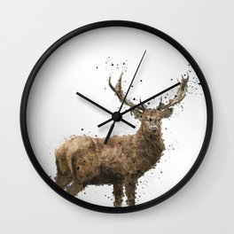 Geometric Drawing of a male deer Wall Clock