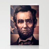 lincoln Stationery Cards featuring Lincoln by Dominick Saponaro