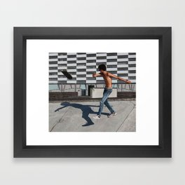 Skate boarding guy Framed Art Print