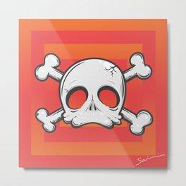 Baby Skull 2 Metal Print