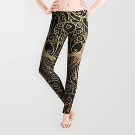 ART DECO PEACOCKS Leggings