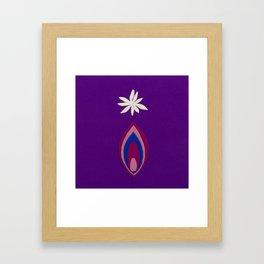 de Flower [purple] Framed Art Print