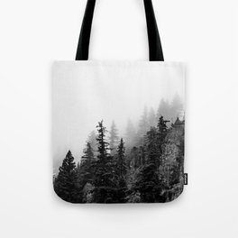 Foggy Trees Tote Bag