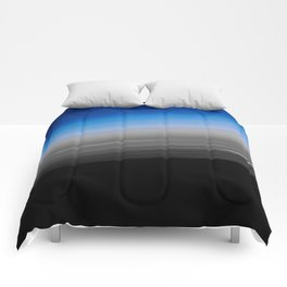 Blue Gray Smooth Ombre Comforters