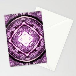 VeggieMandala Red Cabbage 3 Stationery Cards