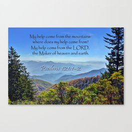 Psalms 121:1-2 Canvas Print