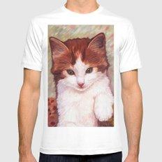 Copper kitten Mens Fitted Tee White MEDIUM