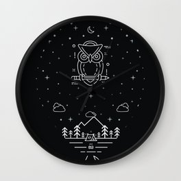 Night balloon Wall Clock