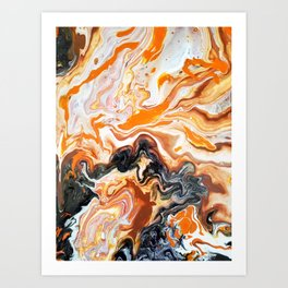 rotten orange Art Print