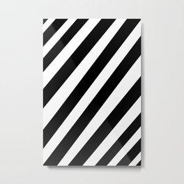 Narrow black and white stripes Metal Print