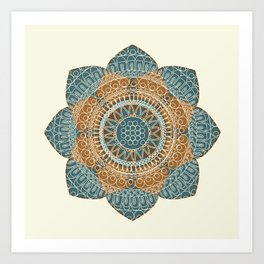 Hena Flower Art Print