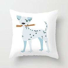 The Dalmatian is out Throw Pillow
