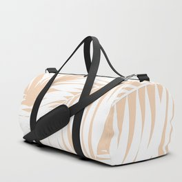 Palm Tree Fronds White on Peach Hawaii Tropical Décor Duffle Bag