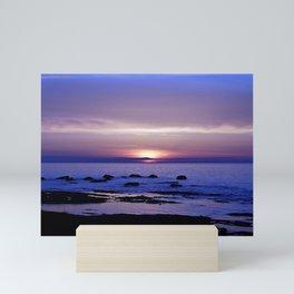 Blue and Purple Sunset on the Sea Mini Art Print