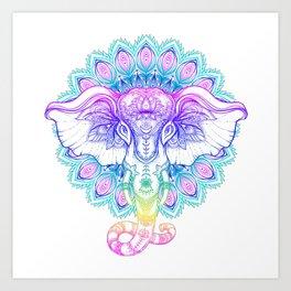 ELEPHANT--COLOR Art Print