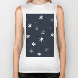Stamped Star Pattern Biker Tank