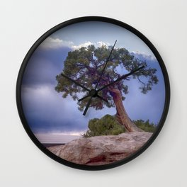 The Tree on the Edge Wall Clock
