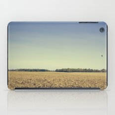 Lonely Field in Blue iPad Case