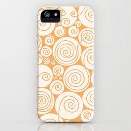 Still Waiting For Spring Bright Orange Pattern iPhone Case