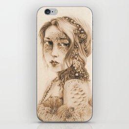 Mermaid Mask, Sepia iPhone Skin