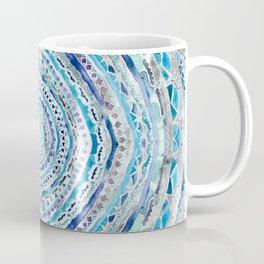 Blue & Gray Mandala Marbling Coffee Mug