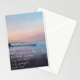 Nina Simone Quote Lyrics Stationery Cards