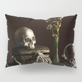 Vanitas, Memento Mori, Macabre Halloween Photo Pillow Sham