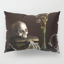 Vanitas, Memento Mori, Macabre Halloween Photo Pillow Sham