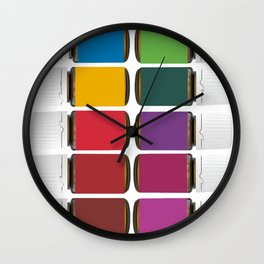 Oily me daily Wall Clock
