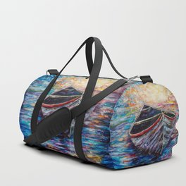 Wooden Boat at Sunrise Duffle Bag