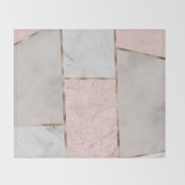 Pink stones - rose gold adorns Throw Blanket